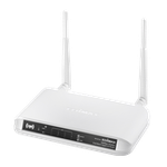 The Edimax BR-6475nD router with 300mbps WiFi, 4 Gigabit ETH-ports and                                                  0 USB-ports