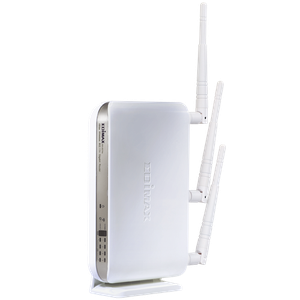 Thumbnail for the Edimax BR-6574n router with 300mbps WiFi, 4 Gigabit ETH-ports and                                          0 USB-ports