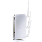 The Edimax BR-6574n router with 300mbps WiFi, 4 Gigabit ETH-ports and                                                  0 USB-ports