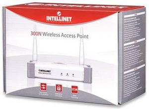Thumbnail for the Intellinet 300N Wireless Dual-Band Router router with 300mbps WiFi, 4 100mbps ETH-ports and                                          0 USB-ports