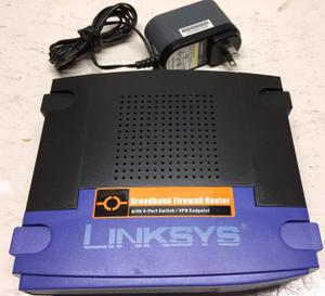 Thumbnail for the Linksys BEFSX41 v2.1 router with No WiFi, 4 100mbps ETH-ports and                                          0 USB-ports