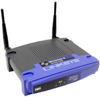 Thumbnail for the Linksys WAP54G v1.1 router with 54mbps WiFi, 1 100mbps ETH-ports and                                          0 USB-ports