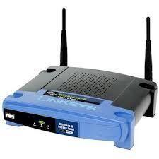 Thumbnail for the Linksys WAP54G v2 router with 54mbps WiFi, 1 100mbps ETH-ports and                                          0 USB-ports