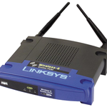 The Linksys WAP54GP router with Gigabit WiFi, 1 100mbps ETH-ports and                                              0 USB-ports