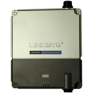 Thumbnail for the Linksys WAP54GPE router with 54mbps WiFi, 1 100mbps ETH-ports and                                          0 USB-ports