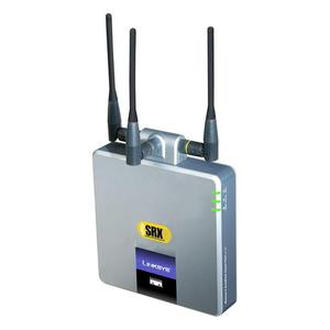 Thumbnail for the Linksys WAP54GX router with 54mbps WiFi, 1 100mbps ETH-ports and                                          0 USB-ports