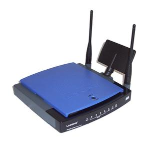 Thumbnail for the Linksys WRT300N v1.1 router with 300mbps WiFi, 4 100mbps ETH-ports and                                          0 USB-ports