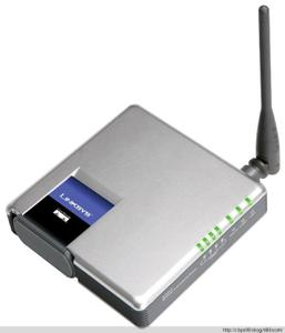 Thumbnail for the Linksys WRT54GC v2 router with 54mbps WiFi, 4 100mbps ETH-ports and                                          0 USB-ports