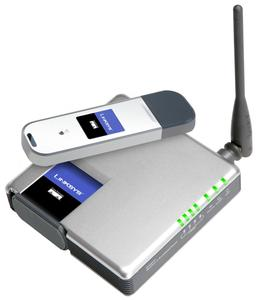 Thumbnail for the Linksys WRT54GH router with 54mbps WiFi, 4 100mbps ETH-ports and                                          0 USB-ports