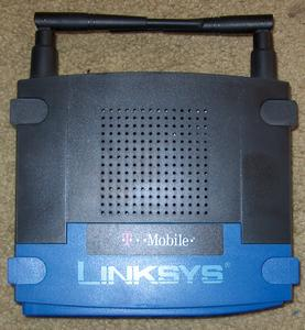 Thumbnail for the Linksys WRT54GL v1.1 router with 54mbps WiFi, 4 100mbps ETH-ports and                                          0 USB-ports