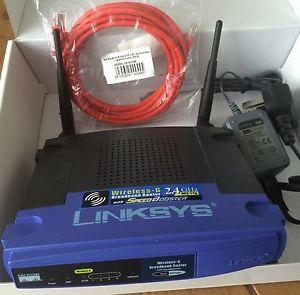 Thumbnail for the Linksys WRT54GS v5.1 router with 54mbps WiFi, 4 100mbps ETH-ports and                                          0 USB-ports