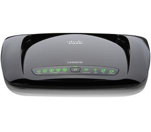 Thumbnail for the Linksys WRT610N v2 router with 300mbps WiFi, 4 N/A ETH-ports and                                          0 USB-ports
