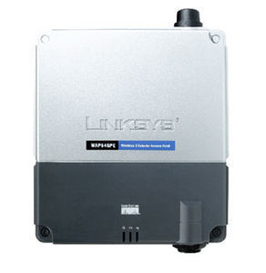 Thumbnail for the Linksys WRTSL54GS router with 54mbps WiFi, 4 100mbps ETH-ports and                                          0 USB-ports