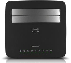 Thumbnail for the Linksys X3500 router with 300mbps WiFi, 4 Gigabit ETH-ports and                                          0 USB-ports