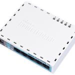 The MikroTik RouterBOARD 750 (RB750) router with No WiFi, 1 100mbps ETH-ports and                                              0 USB-ports
