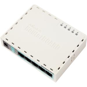 Thumbnail for the MikroTik RouterBOARD 951-2n (RB951-2n) router with 300mbps WiFi, 4 100mbps ETH-ports and                                          0 USB-ports