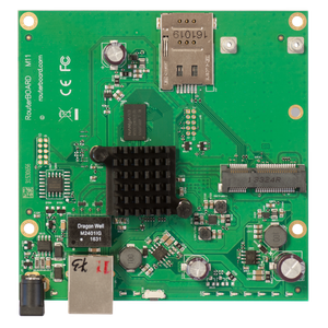 Thumbnail for the MikroTik RouterBOARD M11 (RBM11G) router with No WiFi, 1 Gigabit ETH-ports and                                          0 USB-ports