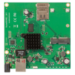 The MikroTik RouterBOARD M11 (RBM11G) router with No WiFi, 1 Gigabit ETH-ports and                                              0 USB-ports