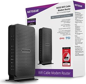 Thumbnail for the Netgear C3700 router with 300mbps WiFi, 2 Gigabit ETH-ports and                                          0 USB-ports