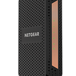 The Netgear CM1100 router with No WiFi, 2 Gigabit ETH-ports and                                                  0 USB-ports