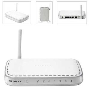 Thumbnail for the Netgear DG834Gv2 router with 54mbps WiFi, 4 100mbps ETH-ports and                                          0 USB-ports