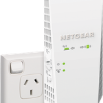 The Netgear EX7300 router with Gigabit WiFi, 1 Gigabit ETH-ports and                                              0 USB-ports