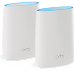 The Netgear Orbi Router (RBR20) router with Gigabit WiFi, 1 Gigabit ETH-ports and                                              0 USB-ports