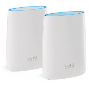 Thumbnail for the Netgear Orbi Router (RBR50v2) router with Gigabit WiFi, 3 Gigabit ETH-ports and                                          0 USB-ports