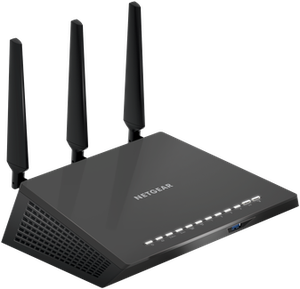 Thumbnail for the Netgear R7450 router with Gigabit WiFi, 4 Gigabit ETH-ports and                                          0 USB-ports