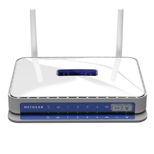 Thumbnail for the Netgear WNDR3700v1 router with 300mbps WiFi, 4 Gigabit ETH-ports and                                          0 USB-ports
