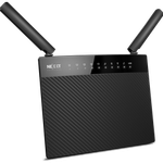 The Nexxt Solutions Acrux1200 (ARL02124U1) router with Gigabit WiFi, 4 Gigabit ETH-ports and                                              0 USB-ports