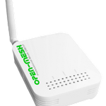 The Open-Mesh OM1P router with 54mbps WiFi, 1 100mbps ETH-ports and                                                  0 USB-ports