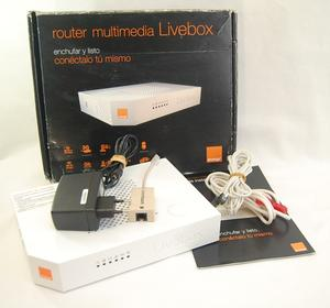 Thumbnail for the Orange Livebox 2.1 router with 300mbps WiFi, 4 100mbps ETH-ports and                                          0 USB-ports