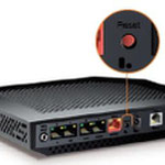 The Orange Sagemcom Livebox 3 router with Gigabit WiFi, 4 N/A ETH-ports and                                                  0 USB-ports