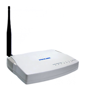 Thumbnail for the PROLiNK WGR1004 router with 54mbps WiFi, 4 100mbps ETH-ports and                                          0 USB-ports