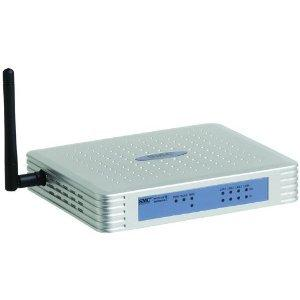 Thumbnail for the SMC SMCWBR14-G router with 54mbps WiFi, 4 100mbps ETH-ports and                                          0 USB-ports