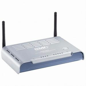 Thumbnail for the SMC SMCWBR14S-N2 router with 300mbps WiFi, 4 100mbps ETH-ports and                                          0 USB-ports