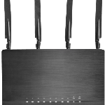 The Sitecom WLR-9000 router with Gigabit WiFi, 4 Gigabit ETH-ports and                                                  0 USB-ports