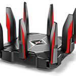 The TP-LINK Archer AX1000 v1.x router with Gigabit WiFi, 7 Gigabit ETH-ports and                                              0 USB-ports