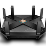 The TP-LINK Archer AX6000 router with Gigabit WiFi, 8 N/A ETH-ports and                                                  0 USB-ports