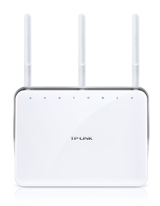 Thumbnail for the TP-LINK Archer VR200v v2 router with Gigabit WiFi, 4 N/A ETH-ports and                                          0 USB-ports