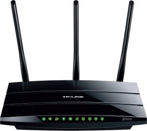 Thumbnail for the TP-LINK TD-W8961ND v3.x router with 300mbps WiFi, 4 100mbps ETH-ports and                                          0 USB-ports