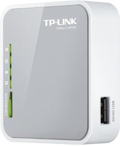 Thumbnail for the TP-LINK TL-MR3020 router with 300mbps WiFi, 1 100mbps ETH-ports and                                          0 USB-ports