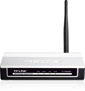 Thumbnail for the TP-LINK TL-WA500G router with 54mbps WiFi, 1 100mbps ETH-ports and                                          0 USB-ports