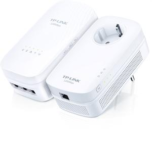 Thumbnail for the TP-LINK TL-WPA8730 router with Gigabit WiFi, 3 Gigabit ETH-ports and                                          0 USB-ports