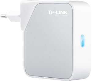 Thumbnail for the TP-LINK TL-WR810N v2.x router with 300mbps WiFi, 1 100mbps ETH-ports and                                          0 USB-ports