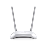 The TP-LINK TL-WR840N v5 router with 300mbps WiFi, 4 100mbps ETH-ports and                                                  0 USB-ports
