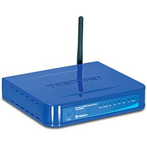 Thumbnail for the TRENDnet TEW-435BRM router with 54mbps WiFi, 4 100mbps ETH-ports and                                          0 USB-ports