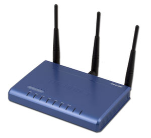 Thumbnail for the TRENDnet TEW-631BRP V1.0R router with 300mbps WiFi, 4 100mbps ETH-ports and                                          0 USB-ports