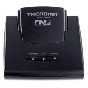 Thumbnail for the TRENDnet TEW-654TR router with 300mbps WiFi, 1 100mbps ETH-ports and                                          0 USB-ports